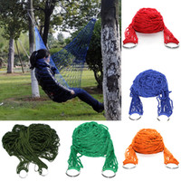 Wholesale Hot Sale Portable Nylon Hammock Hanging Mesh Sleeping Bed Swing Outdoor Camping Travel Drop Shipping HG OR