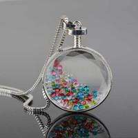 Wholesale Charm Living Memory Floating Gem CZ Rhinestone Crystal Chain Locket Pendant Necklace