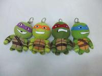Wholesale EMS ninja turtles inch color plush toys children gift bag key phone pendant Christmas gift