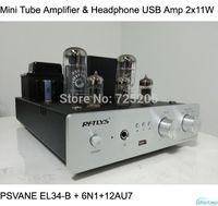tube amplifier - Vacuum Tube Amplifier Headphone USB Amp Integrated x11W PSVANE EL34 B Power Amplifier N1 preamp12AU7 Driving HIFI