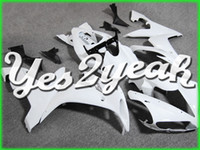 Wholesale YAMAHA YZF R1 motorcycle fairing Injection Mold Fairing YZF R1 YZF R1 White Black Y14Y08