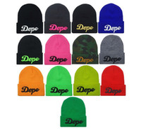 Wholesale dope beanies Knitted Baggy Beanie Crochet Hat Ski Cap snapback hats