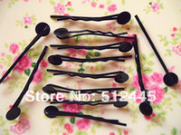 Wholesale Black Tone Bobby Pins Hair Clips findings accessories mm long mm flat pad