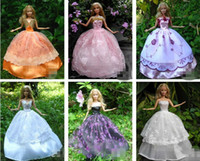 Wholesale Dresses Hangers Shoes Handmade Clothing Gown For Barbie Doll