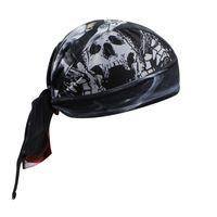 Wholesale New Hot aogda pirate skull turban Bike Bandana Pirate Hat Outdoor leisure Sports bike riding headscarf perspiration breathable mesh fabric