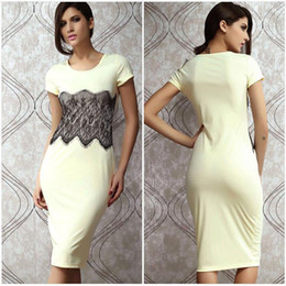 Wholesale White Ladies Round Neck Short Sleeves Dress Embroidering Design Party Skirt Banquet Feast Apparel PL6155