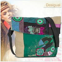 Wholesale 2014 New Spain Desigual bag handbag bag retro embroidery stitching Desigual Womens handbag Messenger shoulder bag