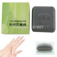 Cheap Tourmaline skin whitening soap for black women antibacterial soap