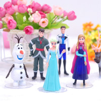 Wholesale Frozen Cartoon Figures Action Doll PVC Children Doll Toys Anime Movies Accessories set SK233