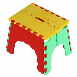 Wholesale New Arrival Plastic Easy Foldable Step Stool Chair Outdoor Camping Sports Chair