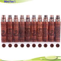 achat en gros de zodiac batteries-Mini Fire 1 batterie en bois e cigarette mini ego en bois batterie 650mha 900mah avec Signes chinois du zodiaque Vente chaude DHL gratuit
