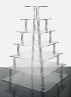 Wholesale Details about Tiered Square Acrylic Cake Stand Stunning Use Or Tiers Cupcakes