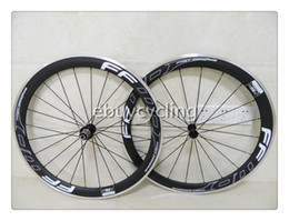 Wholesale White black carbon wheels with alloy brake f5r carbon wheelset for road racing bike mm c carbon bicycle wheel