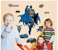 Removable amazing bedroom designs - New Design Cartoon Kids Wall Stickers Decals Nursery Wall Art Decal Sticker Decor D Vinyl Amazing Super Hero Batman Poster Home Decoration