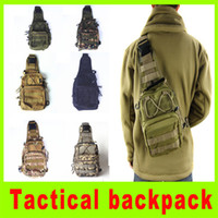baseball gear bags - Tactical Molle Utility Gear Shoulder Sling Bag outdoor cycling chest hang bag camouflage Chest bag camping hiking bag A256L