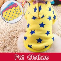 Wholesale 2014 Fashion new Pet Puppy Dog Cat Coat Clothes Hoodie Pentagram Sweater Costumes Size XXS XS S M L