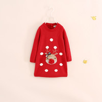 Christmas Girl Knitting Sweater Autumn Children' s Cloth...