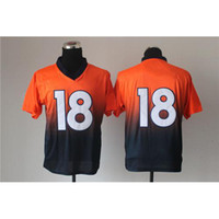 Cheap Top Quarterback #18 Peyton Manning Drift Fashion II Elite Jersey Cheap American Football Jerseys High Quality Embroidered Brand Sport Jersey
