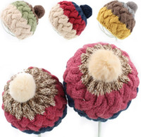 Unisex 2014 Winter Lovely Crochet Patched Color Warm Hat Rab...
