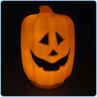 Wholesale LED Pumpkin LED Night Light Decoration Pumpkin LED Lamp Night Light Halloween Novelty Festival Gift M1604