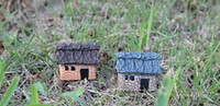 Wholesale lovely cottage miniatures shabby house fairy garden gnome terrarium decoration resin crafts home decor H002