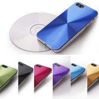 plastic cd covers - CD Pattern Aluminum Metal Plastic Skin Back Cover Case for iphone S Hard Case Shell for iPhone S DHL MOQ