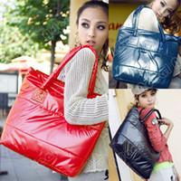 Wholesale Korea Girls Womens Fashion Ladies Space Bale Winter Cotton Totes Lady Bag Shoulder Bag Handbag Bag Colors