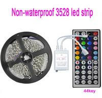 Wholesale Free Fedex DHL Strip Light Set RGB SMD LED strip Flex Light DC12v M leds Keys Remote Controller indoor Lighting