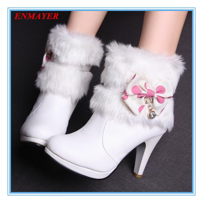 ENMAYER New 2015 Fashion Shoes Ankle Boots Heels Winter Boots for ...