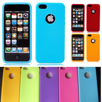 For Apple iPhone silicone finger cover - Soft Rubber Multi Colors Finger Print Swirling Silicone Case Cover Skin For iPhone S Free Shippnig DHL MOQ