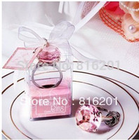 Cheap Free FEDEX Shipping + Wholesale Multcolor Wedding Gift Napkin Ring & Keychain 100pcs lot