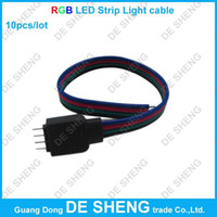Wholesale DC RGB LED Strip Light cable SMD striplight free soldering led strip lights With pin connector