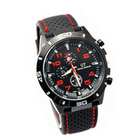Cheap New hot GT Men Sport Quartz Watch Military Army Watches Japan PC Movement F1 GranTurismo Wristwatch Fashion Men's Watches