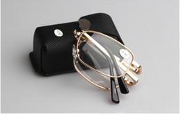 Wholesale BIFOCAL progressive multifocal folding golden metal frame reading glasses