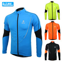 Wholesale New ARSUXEO Winter Thermal Fleece Cycling Jersey Men s Sports Wear Bicycle Jacket Running Maillot Ciclismo Clothing