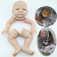 """Cheap Wholesale-Soft Silicone vinyl reborn baby doll kits suit for 20"""" 22"""" reborn baby lifelike reborn doll parts head arms legs"""