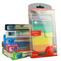 Wholesale Universal PVC Retail package Packaging box for phone Case iphone S C SAMSUNG Galaxy s5 note NO insert
