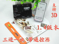 Wholesale 3 HDMI Switcher HDMI Splitter into a three a built in infrared remote control switch