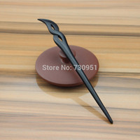 Wholesale Pure handmade wooden Angel feather digit hair sticks Whole wood ebony hair pins fashionable visage lover