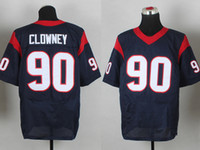 Soccer Men Short #90 Jadeveon Clowney Jerseys Navy Blue American Football Jerseys High Quality Football Wears Elite Men Sports Uniforms Cheap Athletic Shirts
