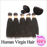 Wholesale DHL Brazilian Peruvian Indian Virgin hair Bundles Kinky Curly Human Hair Weave weft Human Remy Hair Top A Quality Hair Extensions