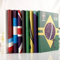 Wholesale Fashion Thin inch Brazil s World Cup Soccer Painting PU Leather Stand Tablet Smart Case Cover for inch iPad Retina mini2