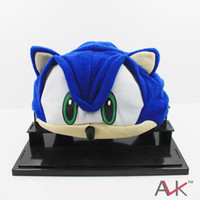 Wholesale 3colors for select FS Sonic The Hedgehog Fleece Cap Beanie Hat Plush Hat Cap Anime Cosplay