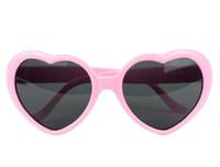 Wholesale Oversized Heart Shaped Plastic Frame Sunglasses Eyewear Pink