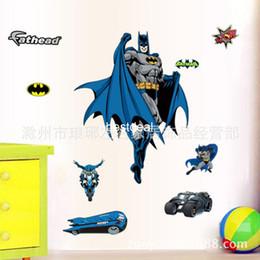 Wholesale 60 cm batman wall kids sticker hero stickers d movie batman wallpaper home decor zy9910