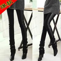 Cheap Brand New Fashion Women slim side stitching leather leggings