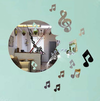 arts plexiglass - music notes love acrylic art creative wall clock wall clock MODERN acrylic plexiglass wall clock