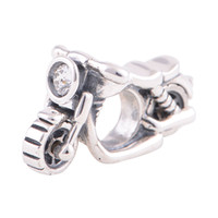 Wholesale Silver Beads Crystal Bead Silver Motorcycle Charm Silver fit European Bracelets No YZ500