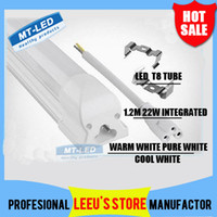 led t8 tube - Integrated m ft W Led T8 Tube Lights SMD2835 Leds High Bright light lm Frosted Transparent Cover V fluorescent lighting