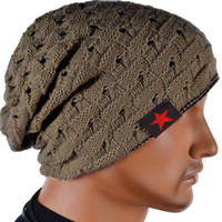 Wholesale S5Q Men s Winter Beanie Kniting Reversible Skull Chunky Baggy Warm Cap ACUD